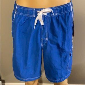 New Speedo Men's Classic Blue Swim Trunks Small